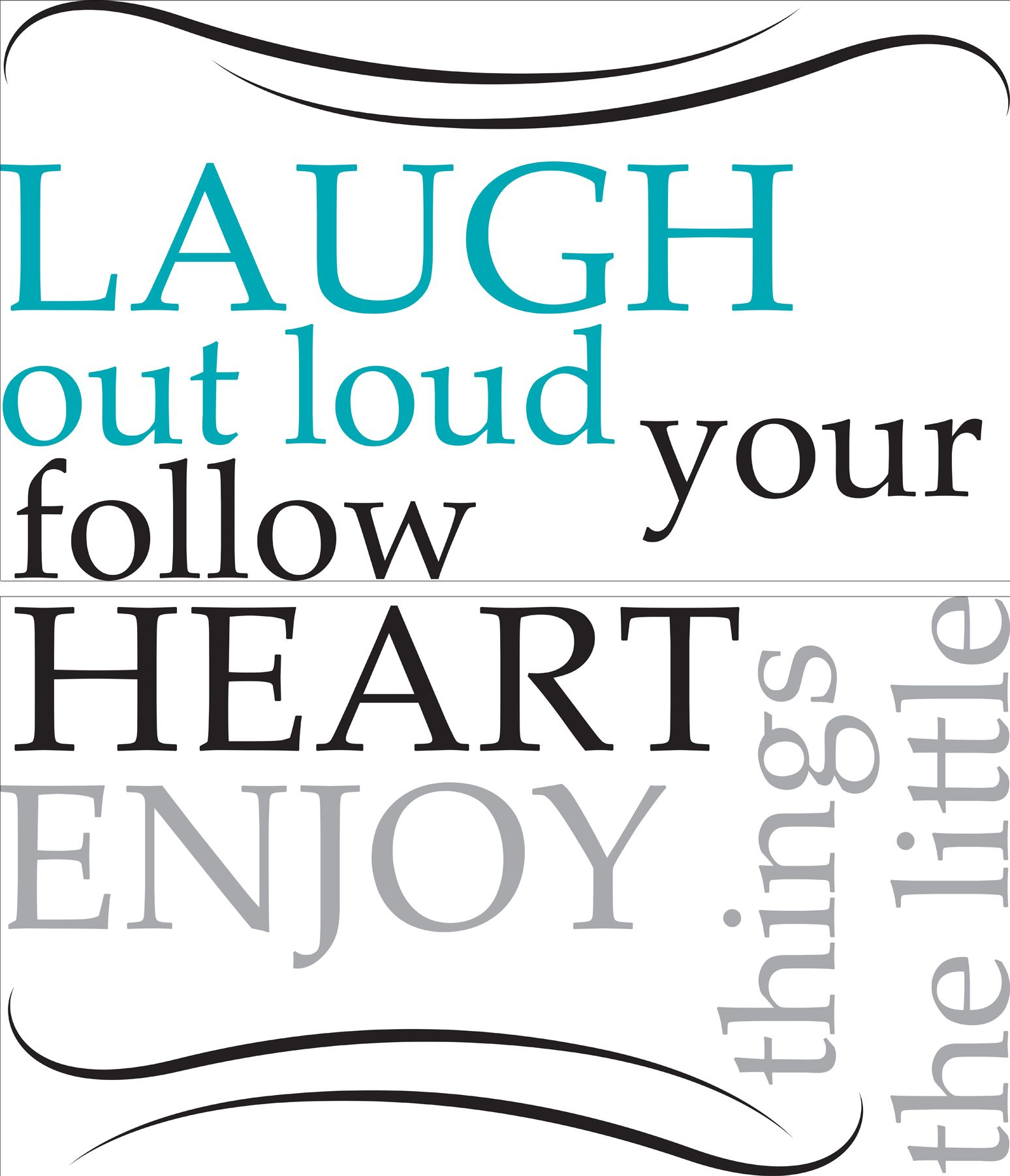 Laugh Out Loud Wall Quote Sticker Set
